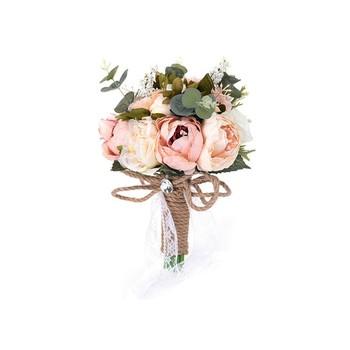 Bride Hand Flowers Wedding Artifical Silk Bouquet That Look Natural