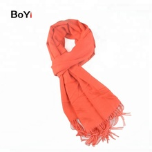 Wholesale Lady Orange Long Silk Cashmere Scarf