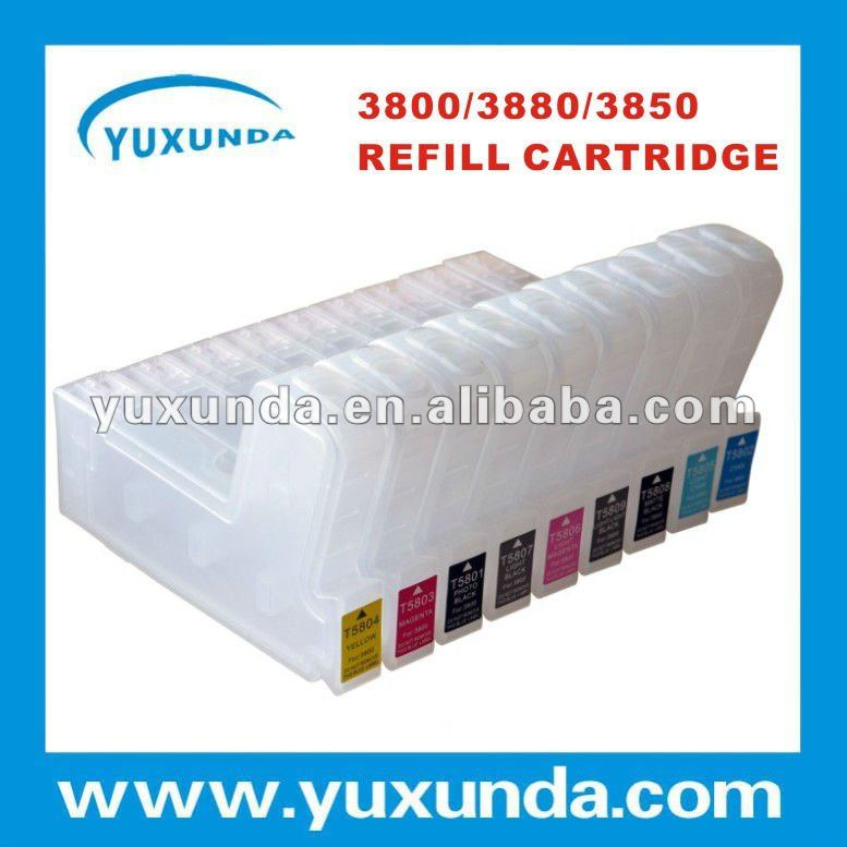 good quality decent shape 3800 refill ink cartridge for Epson inkjet printers