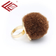 Brown plush decoration ring single stone ring designs popular jewelry rings