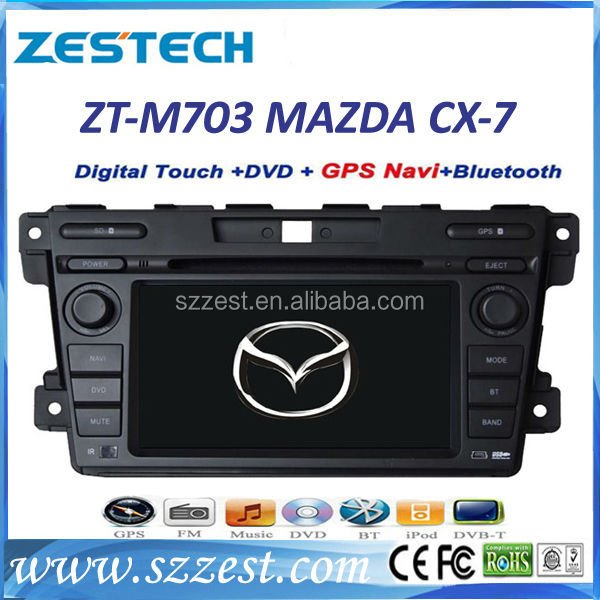7inch Touch Screen Dashboard MAZDA CX-7 ( 2007-2014 ) Car DVD GPS Player with Bluetooth Radio fm rds sd USB AUX-In SWC