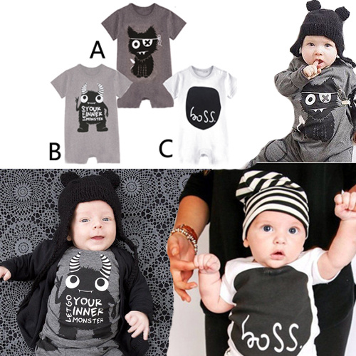 Funny 100% Cotton Infant Baby Boy Names Romper For Baby Clothes