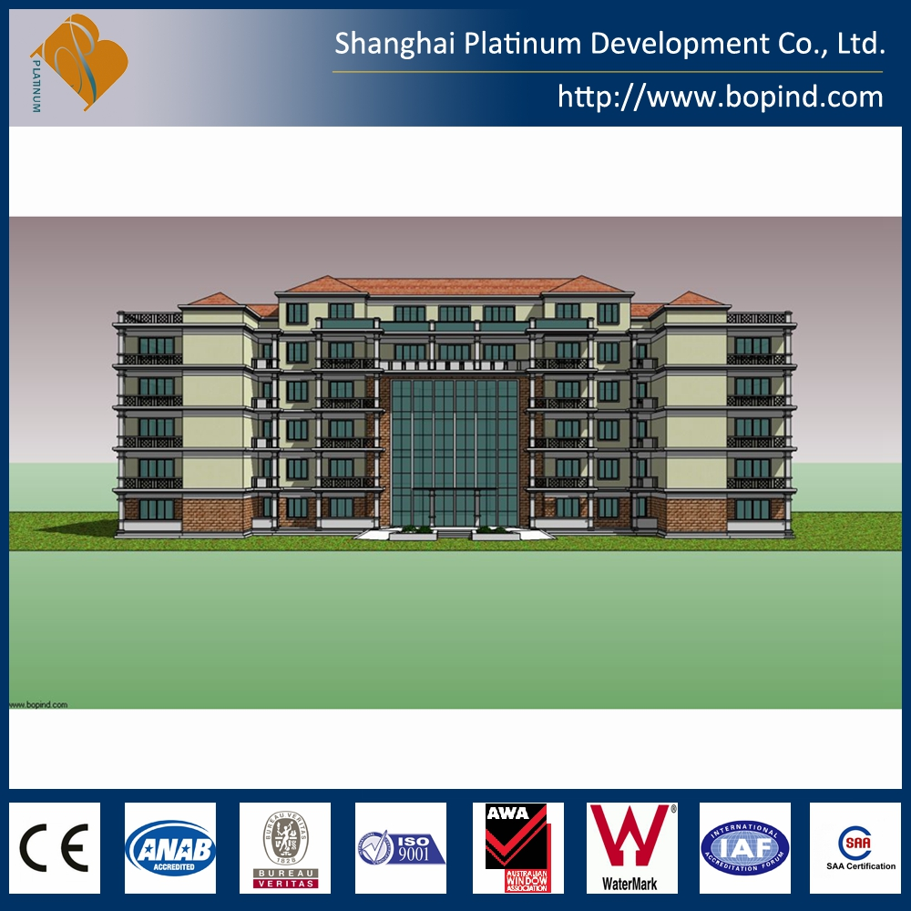 Prefab steel apartment building for sale from Shanghai supplier