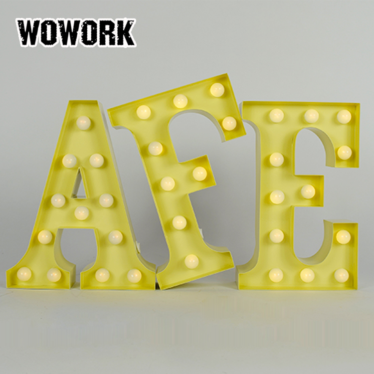 light up pattern letters