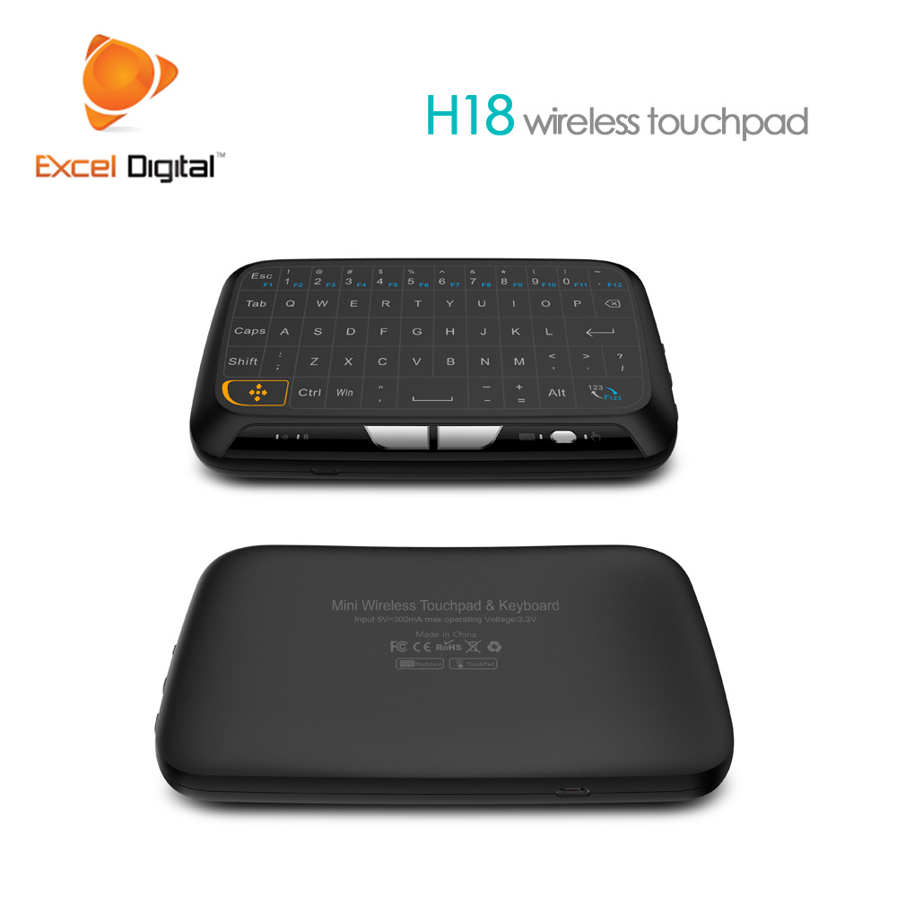 2018 Nieuwe Model H18 air muis afstandsbediening voor samsung smart tv Oplaadbare Mini Air Mouse 2.4 GHz Draadloze Toetsenbord Backlight