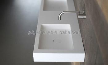 Luxury Wall Hung Double Wash Basin Bathroom Double Sink GM 2051