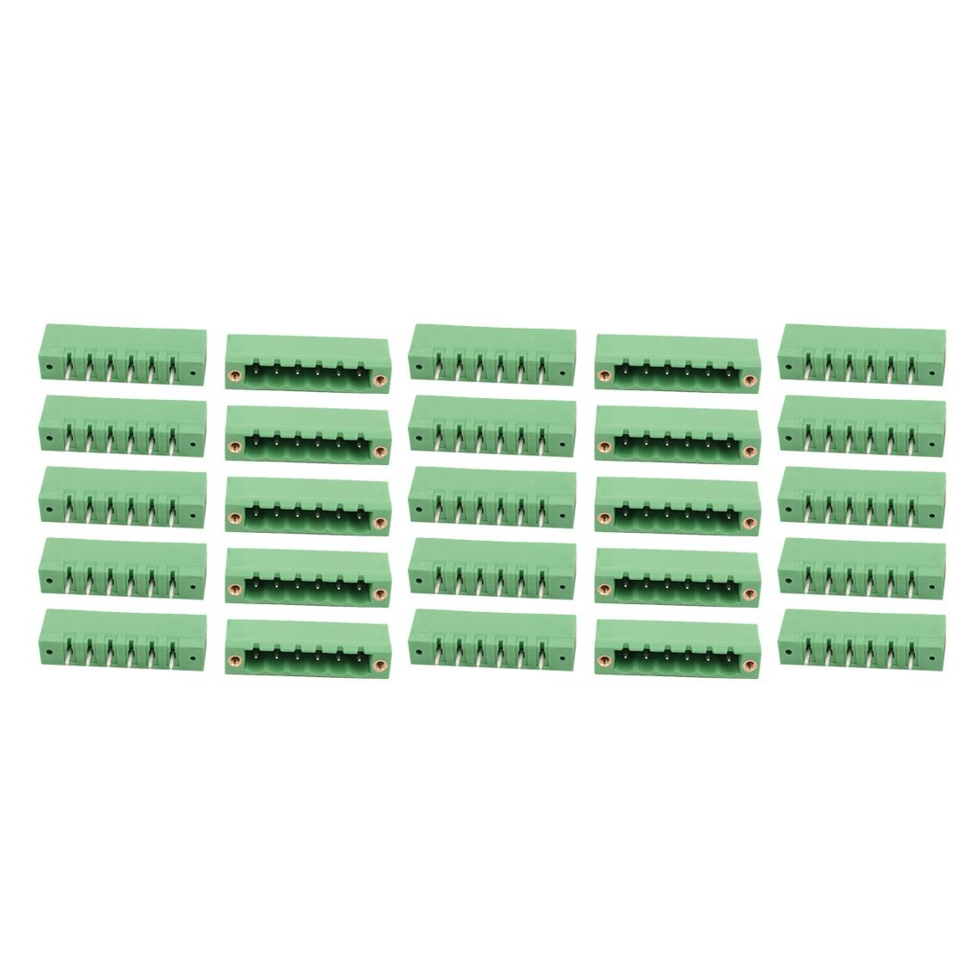 uxcell 25Pcs 5.0mm Pitch 6 Positions Terminal Block Wire Connection for PCB Mounting