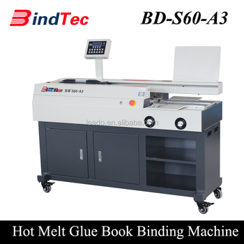 BD-S60-A3 Hot Melt Glue Binding Machine Fully Automatic Exercise Book Machine