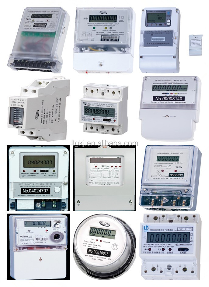 Electronic Three Phase Four Wire Prepaid Kwh Meter /energy Meter ...