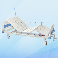 M16 two cranks cheap hospital manual bed with ABS head board
