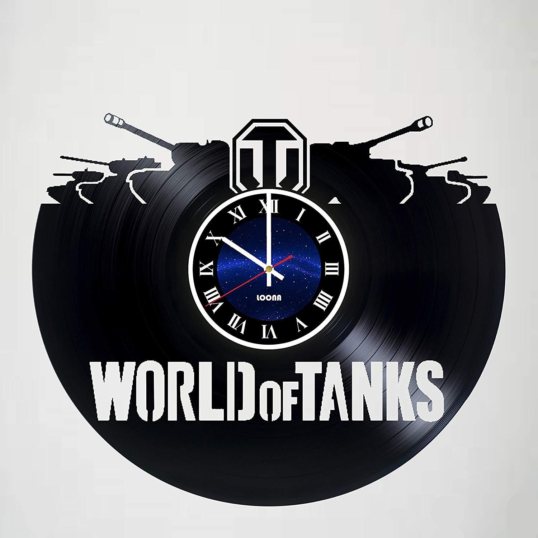 World Of Tanks – Handmade Vinyl Clock Wall Décor - Modern Wall Art - Home Décor - Handmade Gift, Gift For Man, Gift Idea For Fans Of Pop Game, Room Decor, Vintage Vinyl Record