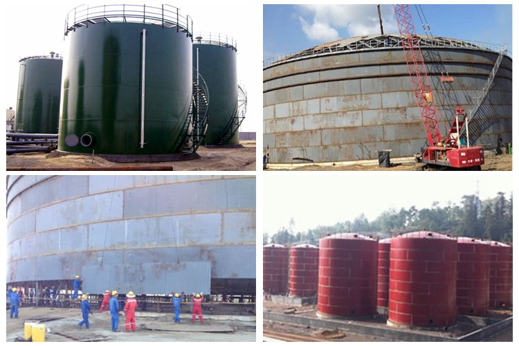 1 000 Cubic Meters Of Crude Oil Storage Tank Capacity Vertical Cement Tanks Chemical