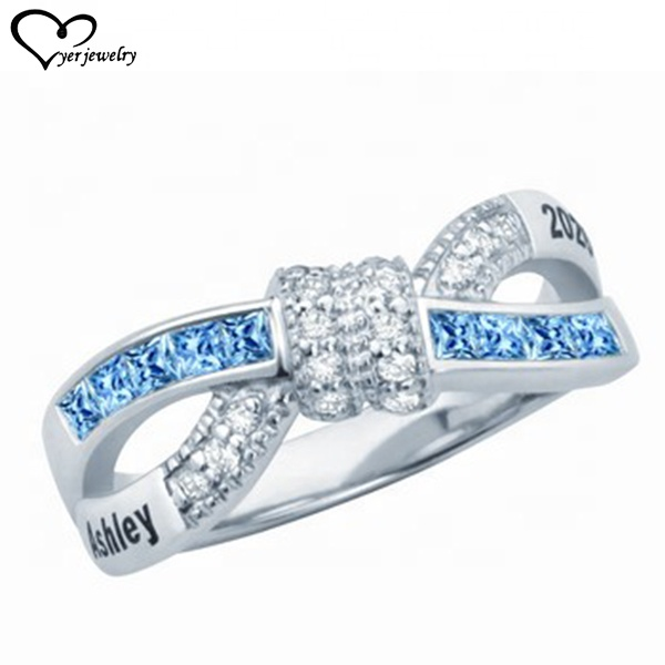 Gold silver wedding rings women rings with your your own customized logo