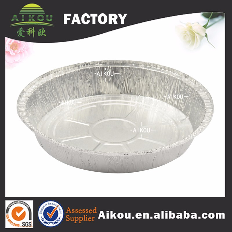 Hot sale household disposable aluminium foil turkey round pans