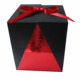 High quality paperboard folding candle box with ribbon tied paper gift box packaging candle cups