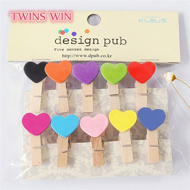 Personalized Logo Custom Heart Shape Paper Clips Mixed Colour Eco Friendly Photo 35mm Mini Wooden Paper Clips Home Decoration Buy Mini Wooden