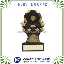 Resin mini shooting star series soccer ball trophy
