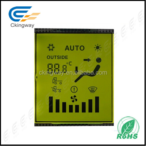 High quality customize size Character TN type transmissive positive LCD