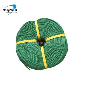 Chinese supply recycle PE rope green color with red tracer from Linyi
