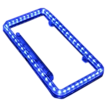 12 Volts Acrylic Plastic Blue Led Light License Plate Frame - Buy ...