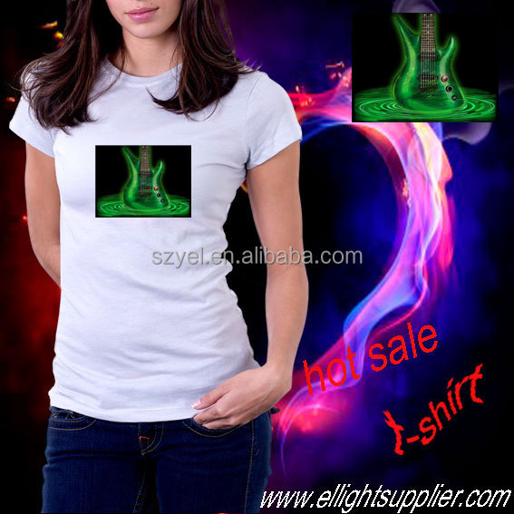 Voice illumination el pannel t shirts