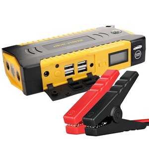 69800mAh portable car jump starter power bank for 6L Diesel vehicles with LCD & Troch