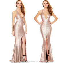 High Quality Sexy Design Sleeveless Prom Evening Dress Woman