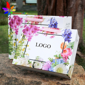 Biodegradable card board packaging paper bag shoes cloth paper bag custom with handle and logo