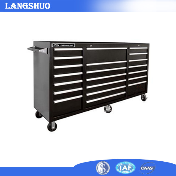 Metal Rolling Tool Cabinet 72 inch 15 Drawer Stainless Steel Tool Chest For Sale
