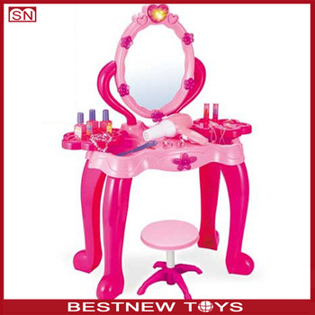 Plastic Toy Makeup Mirror Set Wholesale Plastic Makeup Table For Kids