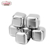 High quality Reusable metal stainless steel ice cube 4PCS set for All Kind of Drink with LFGB and FDA certifications