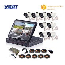 cctv camera ahd dvr kit 8pcs 1080P hd 5 in 1 dvr H.264 CVR for Full HD AHD,TVI, CVI / CVBS, IP camera
