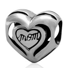 Sambaah I «Love You Mom» подвеска в виде сердца из стерлингового серебра 925 пробы Лучшие семейные бусины для мамы оригинальный браслет Пандора на Ден...(Китай)