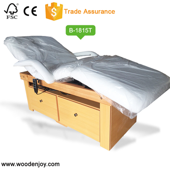 2018New Electric solid wood massage bed beauty bed B-1815T