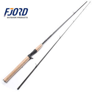 FJORD 1.98m Chinese Spinning Casting Fishing Rod Wood Handle Spinning Rod Sea Baitcasting Carbon Fiber Fishing Rod