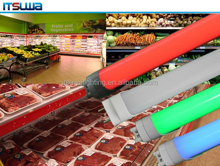 1.2m Led Tube Light T8 21w Mastet Fresh Meat Light Tubes Isolated ...