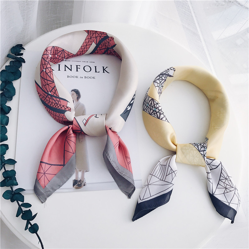 Fashion custom design made scarf woman Imitation jingpin silk scarf