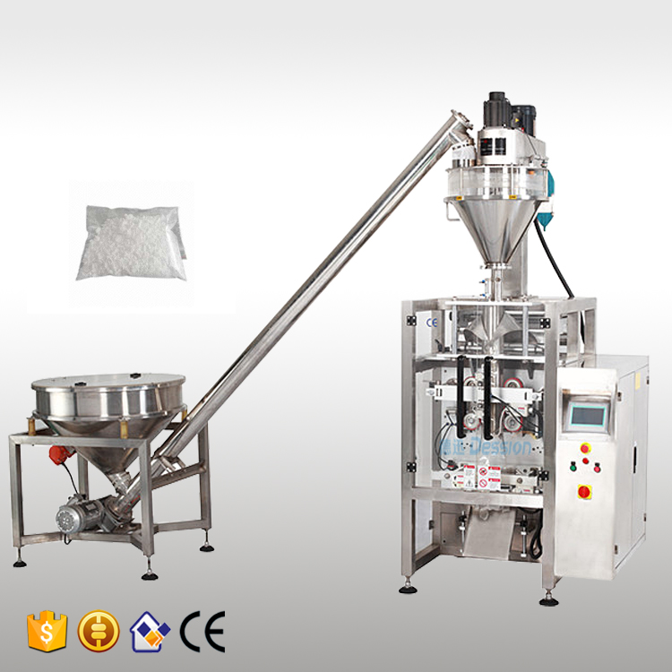 Automatic bag filling sealing pearl powder packing machine