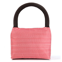 Durable Red Stripe Tote Bags Ladies Travel Cosmetic Bag