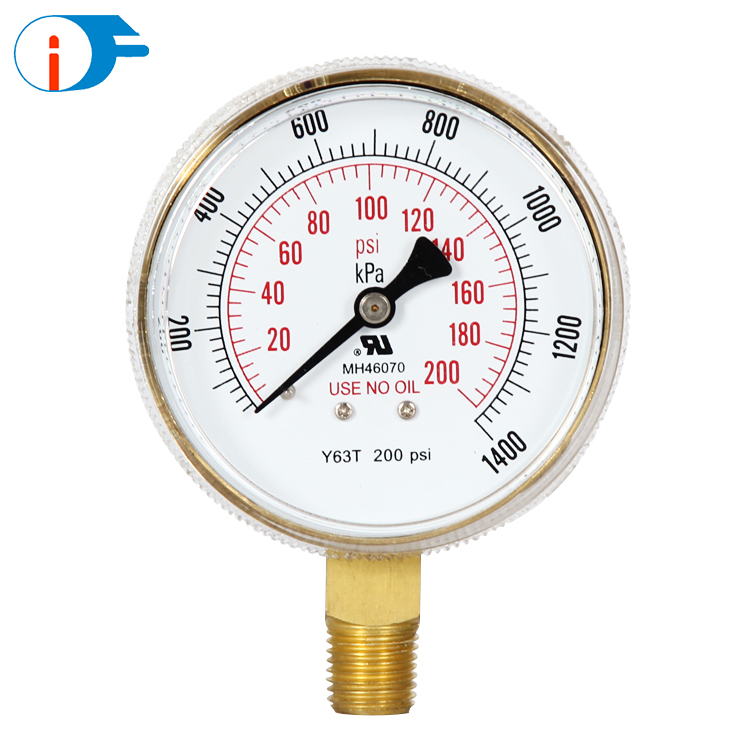 0~7500 Psi Use No Oil Vacuum Kpa Pressure Gauge