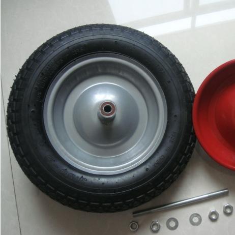 """Remplacement 14/"""" PU mousse remplie solide brouette Crevaison Preuve jaune pneu 3.50"""