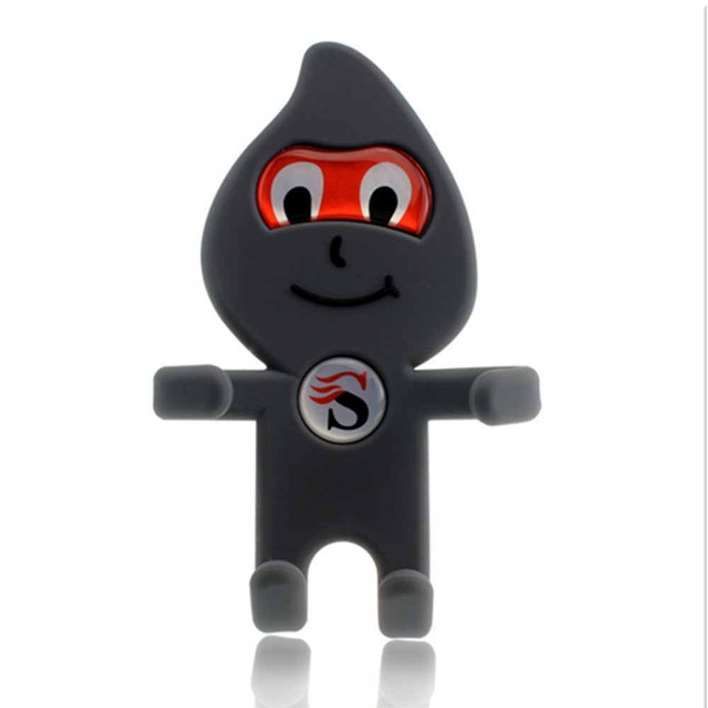 Outlet Car phone holder air vent Cartoon car Silicone stent manufacturers -Gray