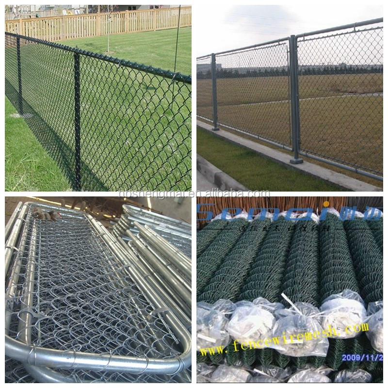 Cheap best selling pvc coated used chain link fence panels