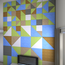 Household Decorative Acoustic Panel Textile Wall Coating