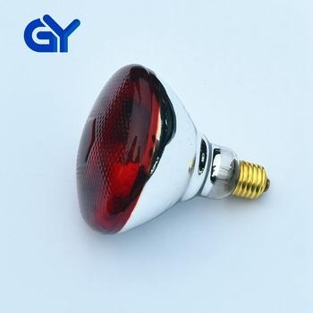 Gy E27 Infrared Light Ir Heat Bulb 250w Par38 Top Dark Red Heat Lamp