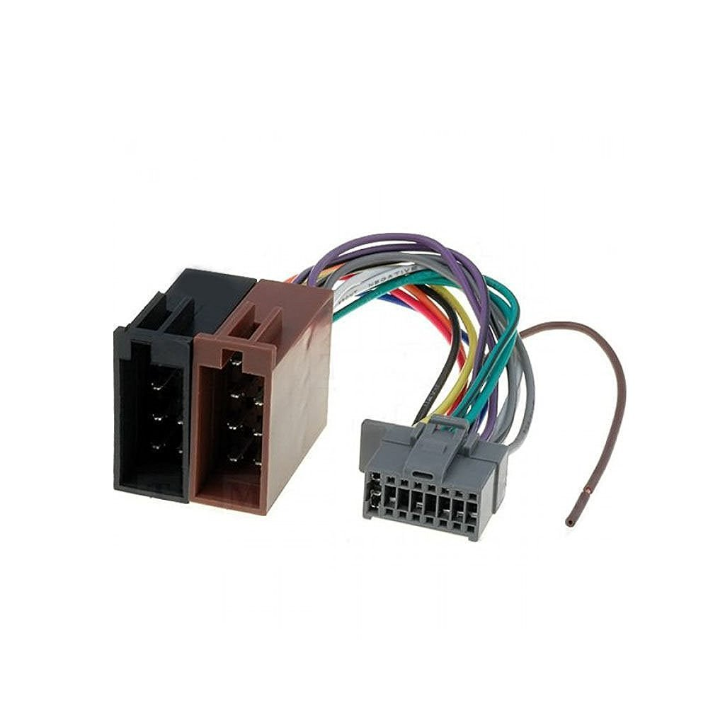 Get Quotations · 16 Pin to ISO Lead Wiring Loom Adaptor Wire Radio Connector  Harness for Panasonic Radio