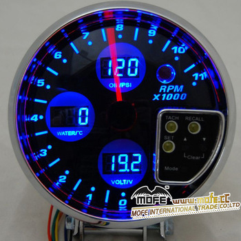 Racing cars rpm gauge auto turbo boost meter