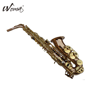 2018Hot sale Colored wind instrument alto saxophone with golden lacquer