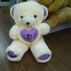 Hot Electronic Recordable Toy Plush Teddy Bear with decorated Heart Pillow