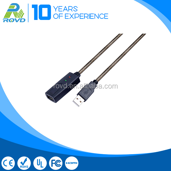 USB male to female data extension cable for notebook computer